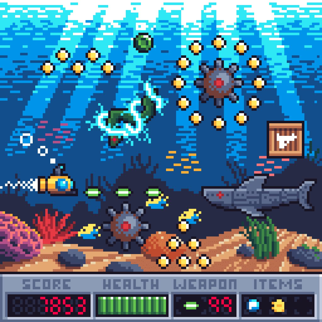 submarine gameboy color game mockup