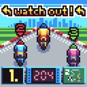 motor bike racing game mockup