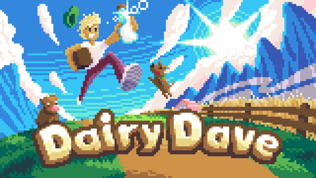 dairy dave cover art with title — pixel artwork by mistertabasco (marcel sydow)